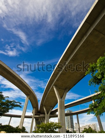 elevated express way - stock photo