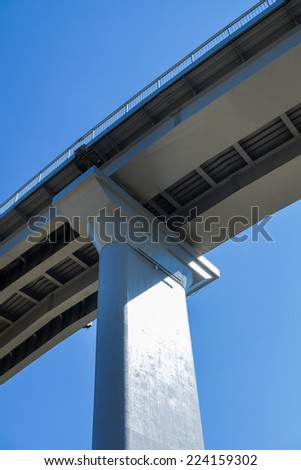 Elevated road and pillar - stock photo