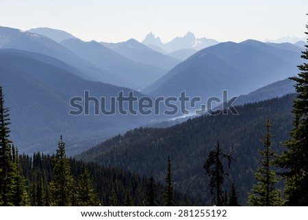 Elevated View of Mountain landscape