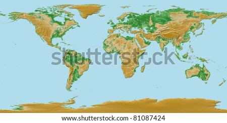 Elevations earth worldwide map relief national stock illustration elevations of earth worldwide map relief with national borders gumiabroncs Image collections