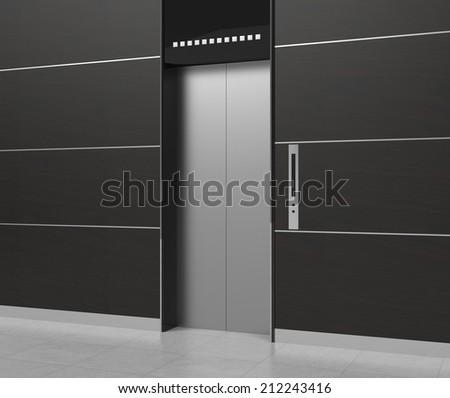 elevator - stock photo