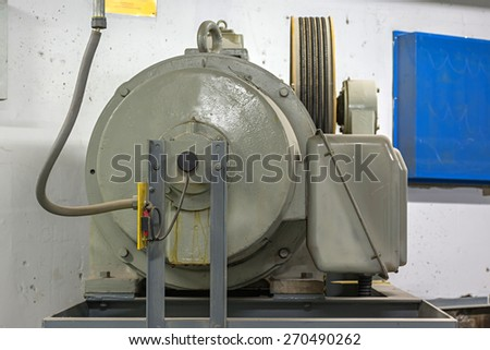 Elevator cable control. - stock photo