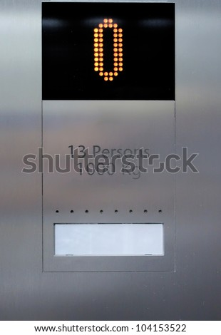 Elevator display - stock photo
