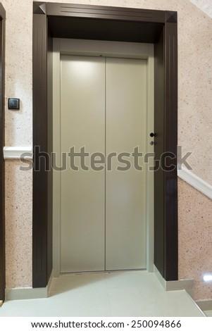 Elevator door - stock photo