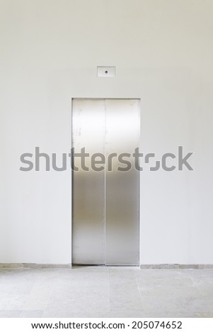 Elevator in building interior, construction and architecture