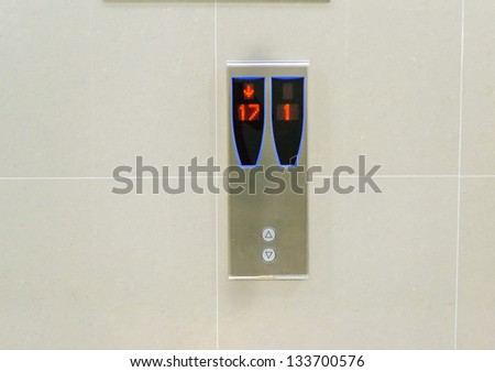 elevator panel sign - stock photo