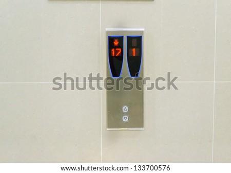 elevator panel sign - stock photo