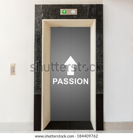 elevator with way to passion, business conceptual