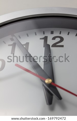 eleven fifty-five - stock photo