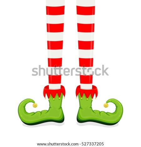 elf legs green shoes isolated on stock illustration 527337205 rh shutterstock com Elf Feet Clip Art Elf Legs Clip Art
