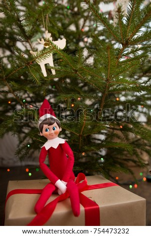 Elf stock images royalty free images vectors shutterstock - Christmas elf on the shelf wallpaper ...