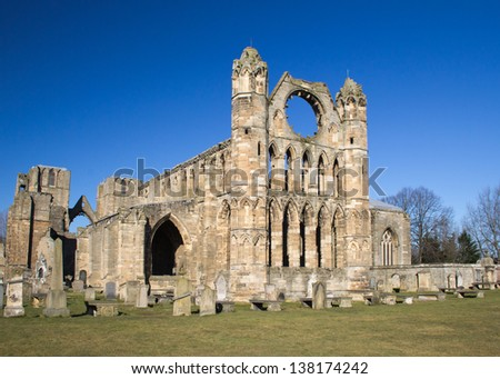 Elgin Cathedral, Scotland - stock photo