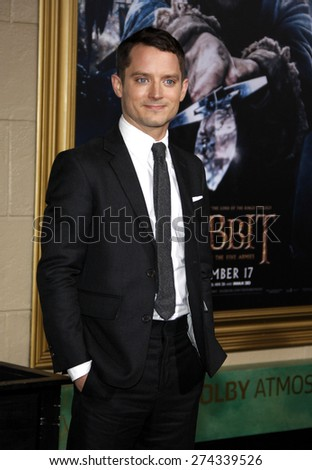 Elijah Wood at the Los Angeles premiere of 'The Hobbit: The Battle Of The Five Armies' held at the Dolby Theatre in Hollywood on December 9, 2014.