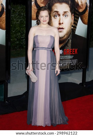 Elisabeth Moss at the Los Angeles premiere of 'Get Him To The Greek'  held at the Greek Theatre in Los Angeles on May 25, 2010.