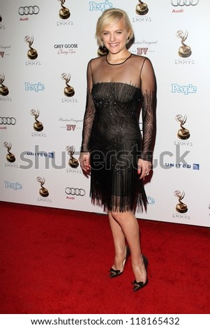 Elisabeth Moss at the 64th Primetime Emmy Award Performer Nominee Reception, Spectra by Wolfgang Puck, West Hollywood, CA 09-21-12 - stock photo