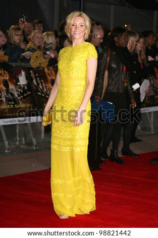 Elizabeth Banks arriving at the European Premiere of 'The Hunger Games' at the O2 Arena, London. 14/03/2012 Picture by: Alexandra Glen / Featureflash - stock photo