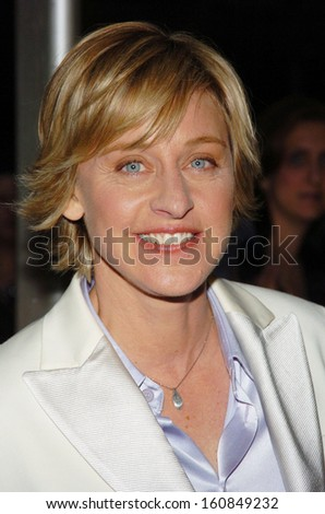 Ellen Degeneres arrives on the red carpet for the 31st Annual Daytime Emmy Awards broadcast from Radio City Music Hall, May 21, 2004 in New York City - stock photo