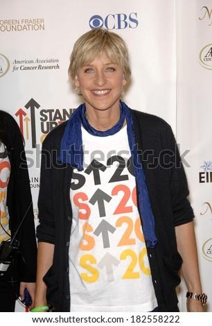 Ellen DeGeneres at Stand Up To Cancer Benefit Telethon - ARRIVALS, The Kodak Theatre, Los Angeles, CA, September 05, 2008 - stock photo