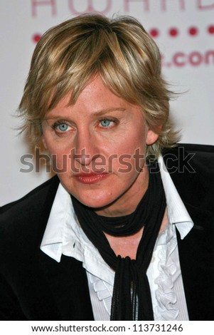 Ellen DeGeneres in the press room at The 33rd Annual People's Choice Awards. Shrine Auditorium, Los Angeles, CA. 01-09-07 - stock photo