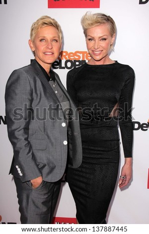 "Ellen Degeneres, Portia de Rossi at the ""Arrested Development"" Los Angeles Premiere, Chinese Theater, Hollywood, CA 04-29-13"