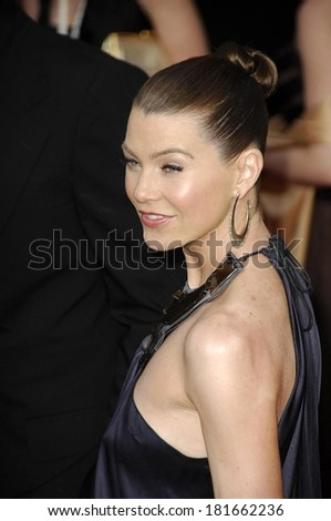 Ellen Pompeo at 13th Annual Screen Actors Guild SAG Awards - ARRIVALS, The Shrine Auditorium, Los Angeles, CA, January 28, 2007 - stock photo