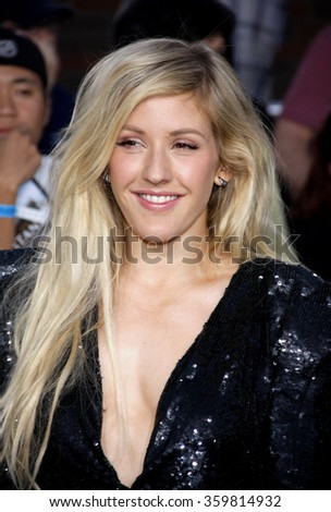 "Ellie Goulding at the Los Angeles premiere of ""Divergent"" held at the Regency Bruin Theatre in Los Angeles, USA on March 18, 2014."