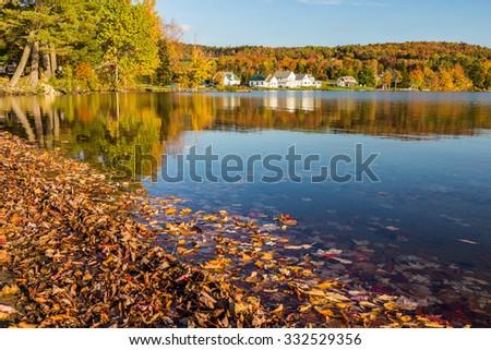 Elmore state park in Autumn. - stock photo