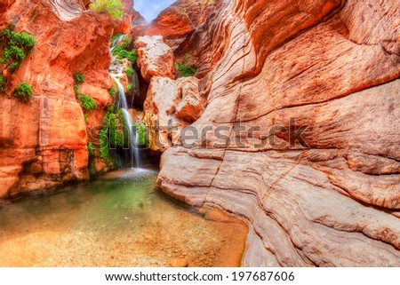 Elves Chasm in Grand Canyon. - stock photo