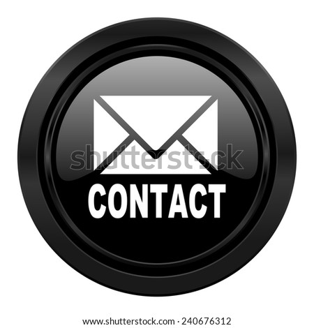 email black icon contact sign  - stock photo