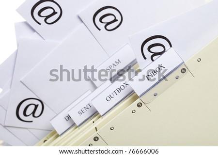 Email communication - stock photo