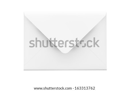 Email Concept. Detailed envelope on a white background
