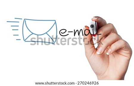 Email, contact, e-mail. - stock photo