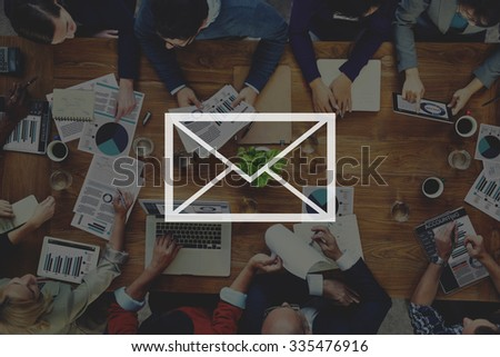 Email Mail Messaging Online Internet Concept - stock photo