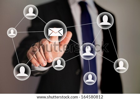 email marketing - stock photo