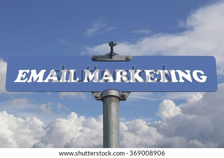 Email marketing road sign - stock photo