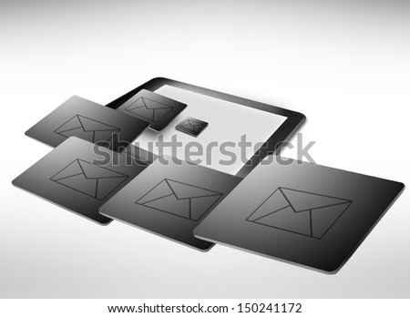 email out of tablet