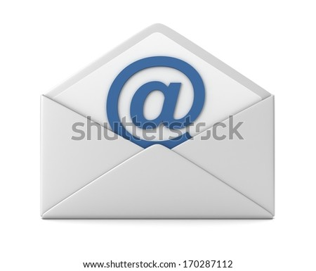 email sign and envelope