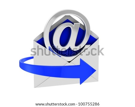 Email Sign. White background