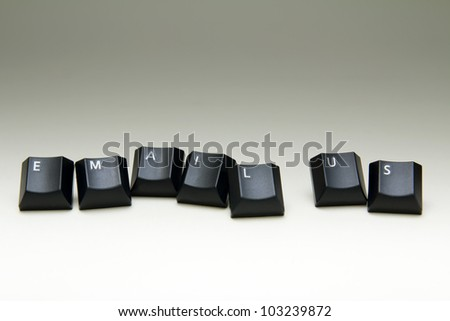 Email us keyboard button on white background - stock photo