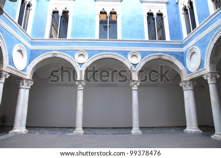 Embajador Vich courtyard Museum Fine Arts Valencia Spain - stock photo