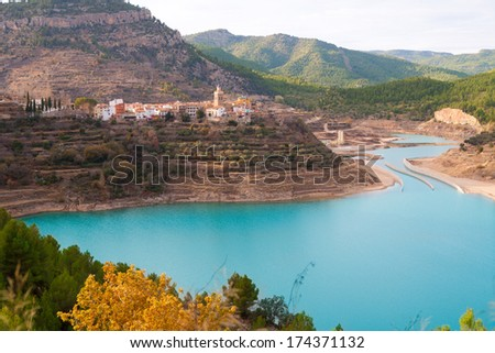 Embalse Arenos in Puebla de Arenoso Castellon Mijares river Spain