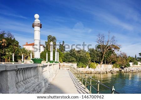 embankment in Opatija. Croatia. - stock photo