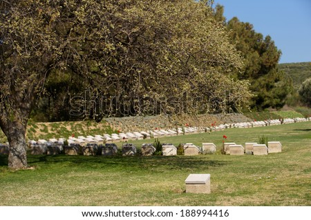 Embarkasion Pier WWI military cemetery in Gallipoli, Turkey