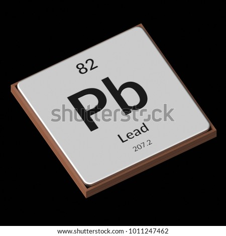 Embossed Isolated Metal Plate Displaying Chemical Stock Illustration