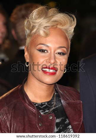 Emeli Sande arriving for the Royal World Premiere of 'Skyfall' at Royal Albert Hall, London. 23/10/2012 Picture by: Alexandra Glen - stock photo