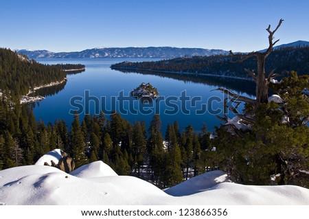 Emerald bay Lake Tahoe - stock photo