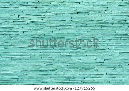 Emerald brick wall background