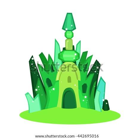 emerald city square illustration raster copy
