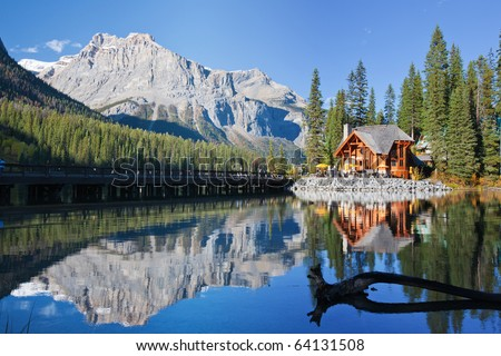 Emerald Lake, Alberta, Canadian Rockies - stock photo