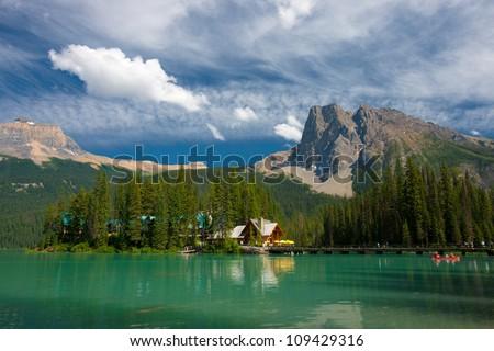 Emerald Lake at Banff National Park, Alberta, Canada - stock photo